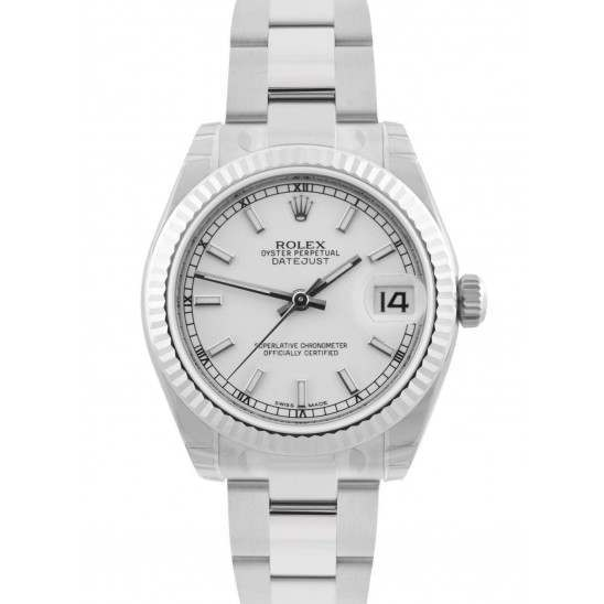 Rolex Lady Datejust 31mm White/index Oyster 178274 - 2018