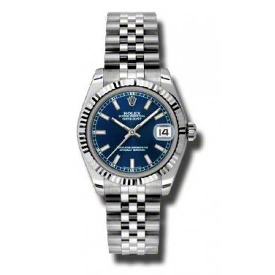 Rolex Lady Datejust 31mm Blue/index Jubilee 178274