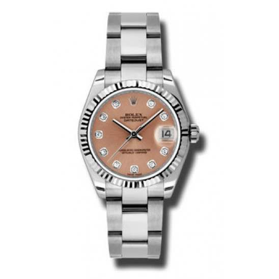Rolex Lady Datejust 31mm Pink/diamond Oyster 178274