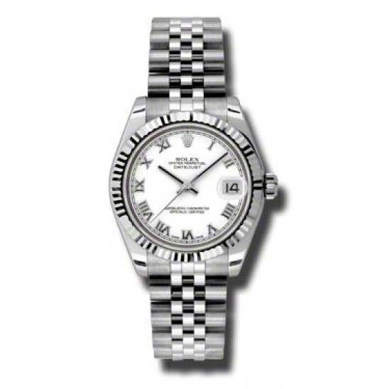 Rolex Lady Datejust 31mm White Roman Jubilee 178274