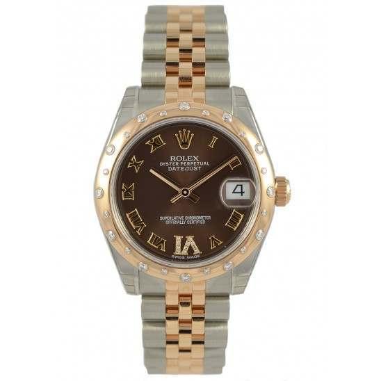 Rolex Lady Datejust 31mm Chocolate Roman Jubilee 178341