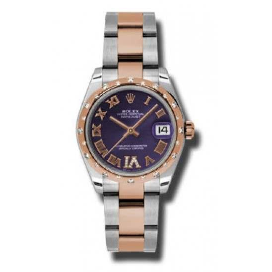 Rolex Lady Datejust 31mm Purple Roman Oyster 178341
