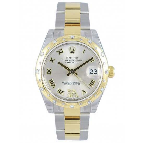Rolex Lady Datejust 31mm Silver Roman Oyster 178343