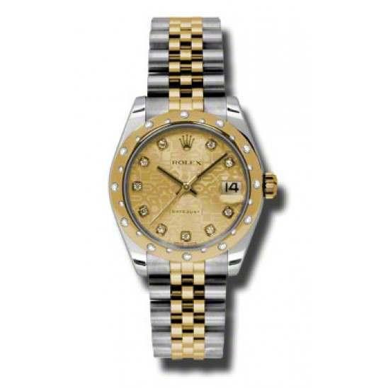 Rolex Lady Datejust 31mm Champagne Jub/diamond Jubilee 178343
