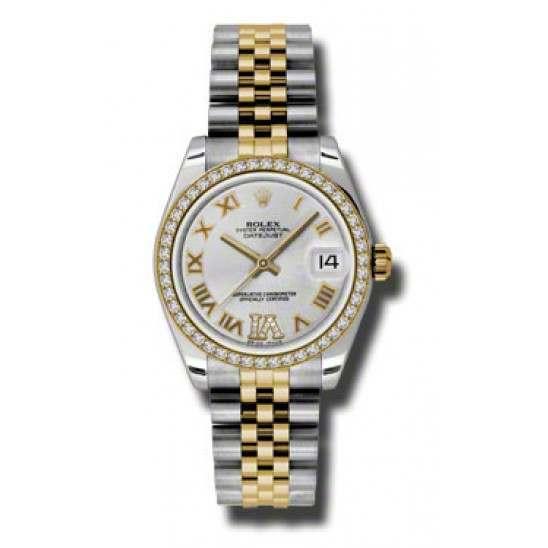 Rolex Lady Datejust 31mm Silver Roman Jubilee 178383