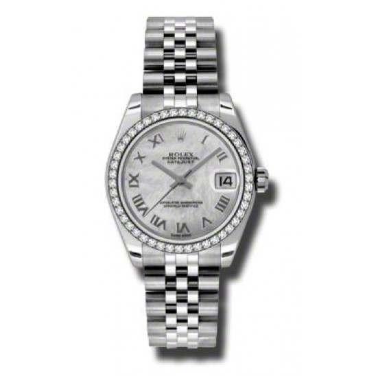 Rolex Lady Datejust 31mm White mop Roman Jubilee 178384