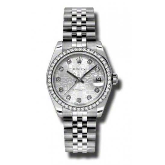 Rolex Lady Datejust 31mm Silver Jub/diamond Jubilee 178384