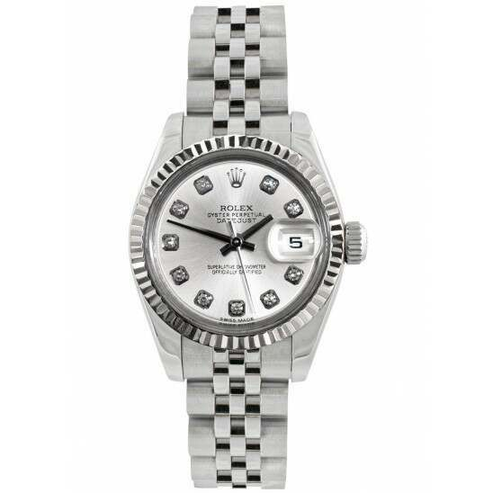 Rolex Lady-Datejust 26mm Steel and White Gold Silver Dial Jubilee 179174