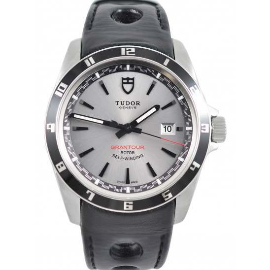 Tudor Grantour Date Silver Dial/ Leather Strap 20500N