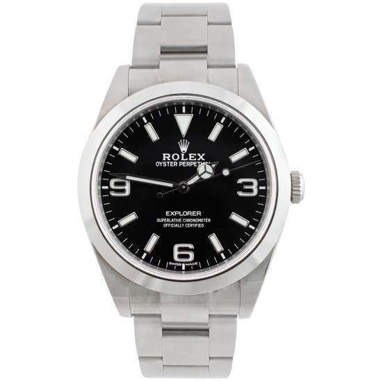 As New Rolex Explorer I 39mm Black Dial Oyster Bracelet 214270