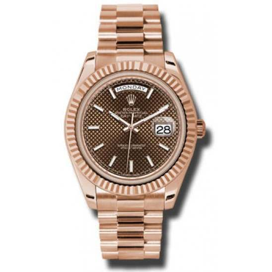 Rolex Day-Date 40 Chocolate/ Index President Rose Gold 228235