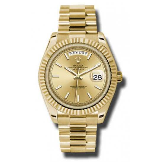 Rolex Day Date Champagne/ Index Yellow Gold 228238