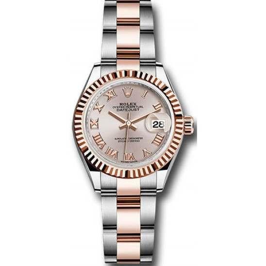Rolex Lady Datejust 28 Steel&Gold Sundust/ Roman Oyster 279171