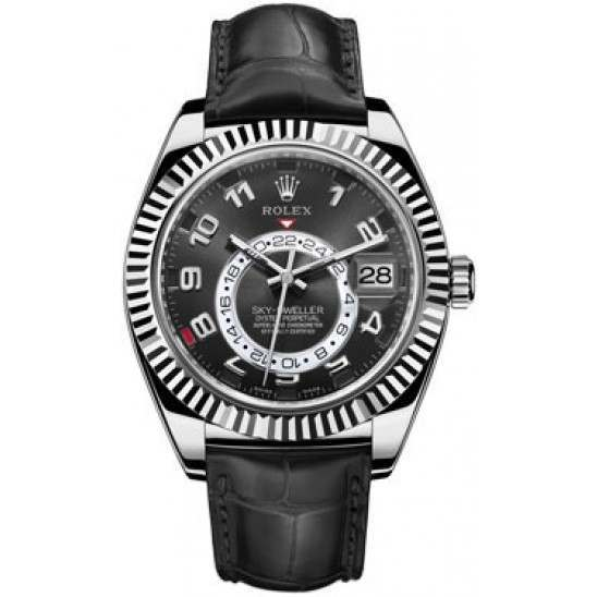 Rolex Sky-Dweller Black Arab Leather 326139