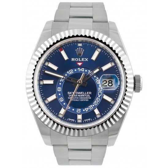 Rolex Sky-Dweller Blue/ Index Oyster Steel/ White Gold 326934