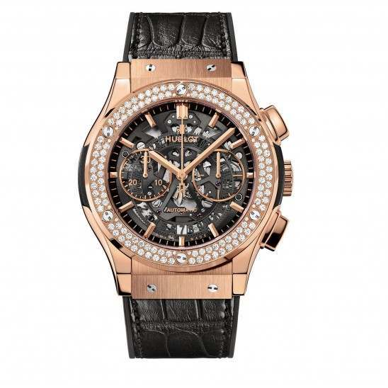 Hublot Aero King Gold Diamonds 525.OX.0180.LR.1104