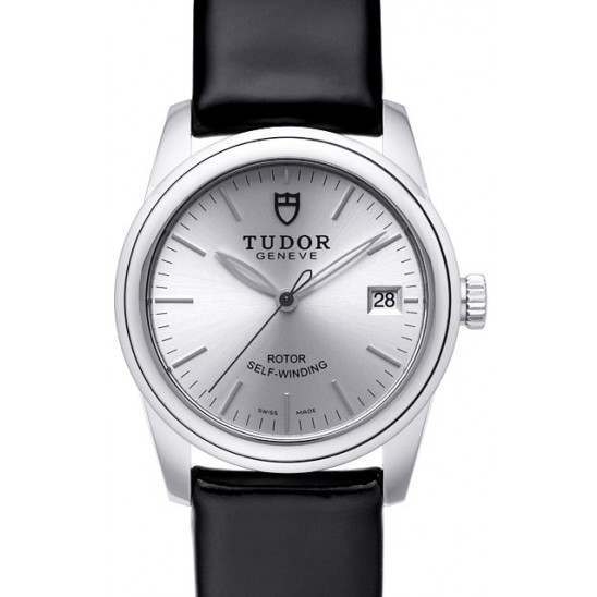 Tudor Glamour Date Silver Dial Leather 36mm 55000