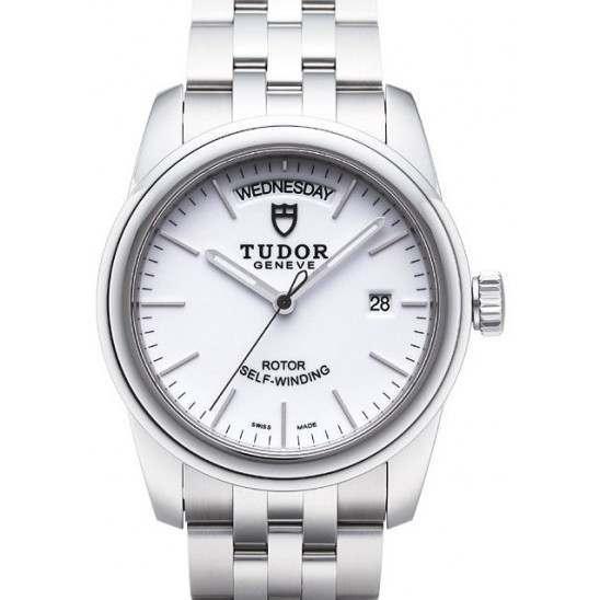 Tudor Glamour Date-Day 39mm White/Steel 56000