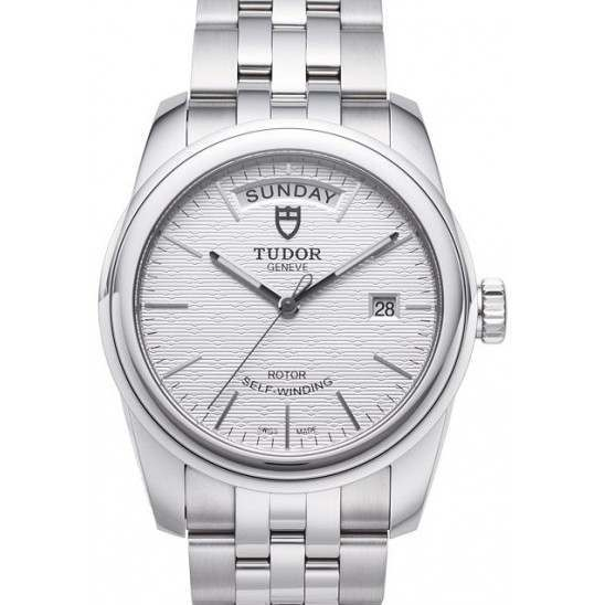 Tudor Glamour Date-Day 39mm Silver/Steel 56000