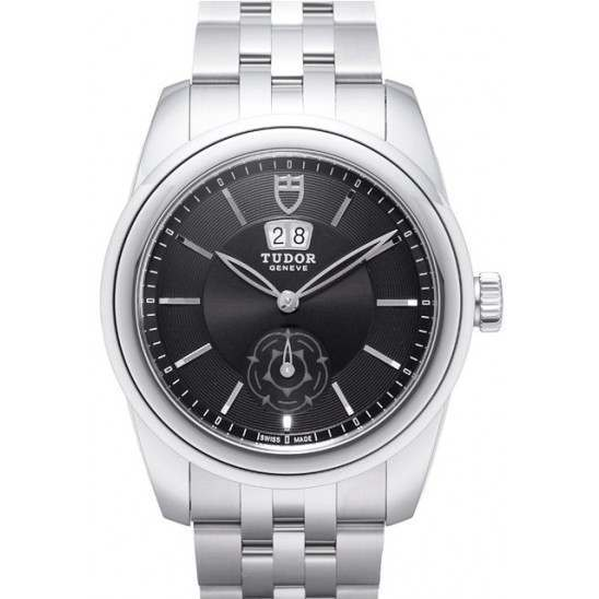 Tudor Glamour Double Date Watch Black Dial 57000