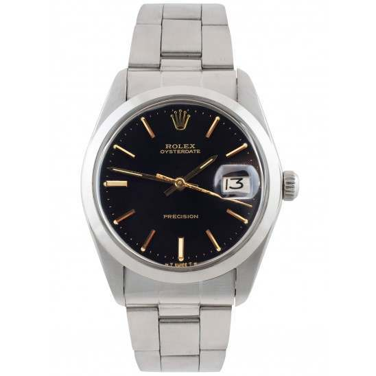 Rolex Oyster Date Black Dial 34mm 6694