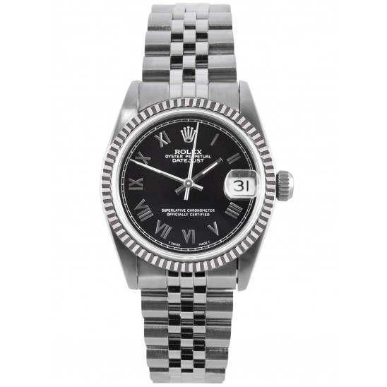 Rolex Datejust 31mm Black/ Roman Jubilee 68274