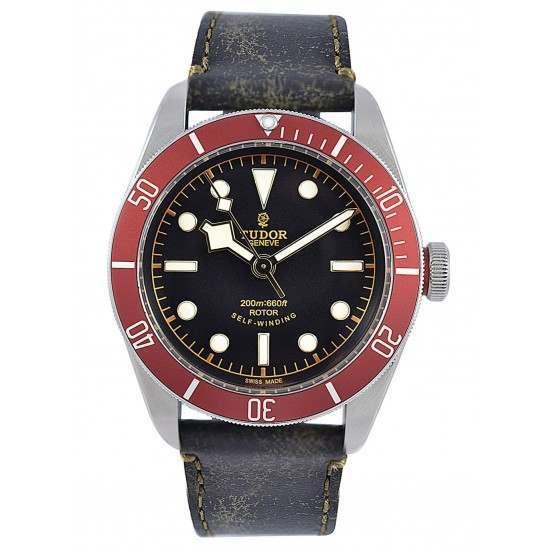Tudor Heritage Black Bay 79220R Leather
