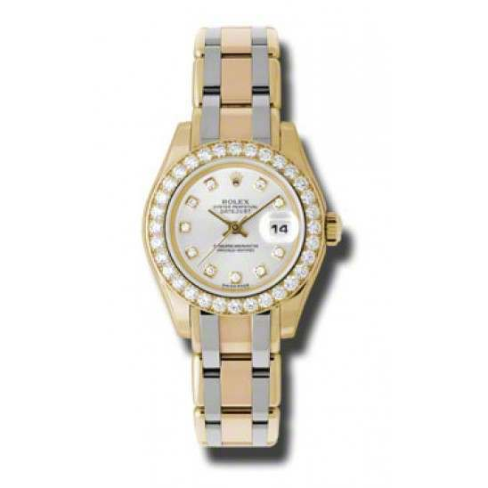 Rolex Lady Pearlmaster Silver/diamond 80298