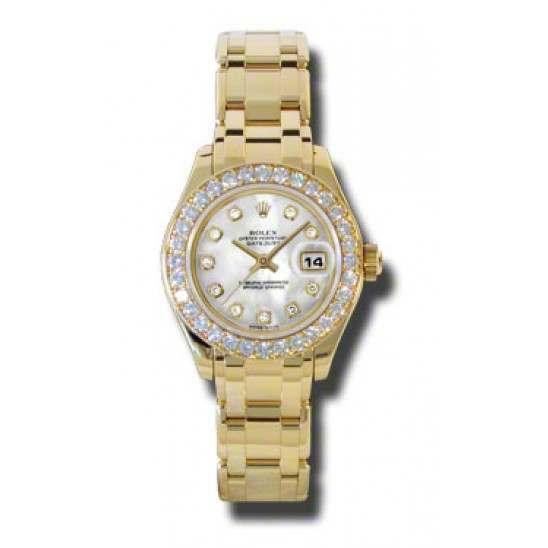 Rolex Lady Pearlmaster White mop/diamond 80298