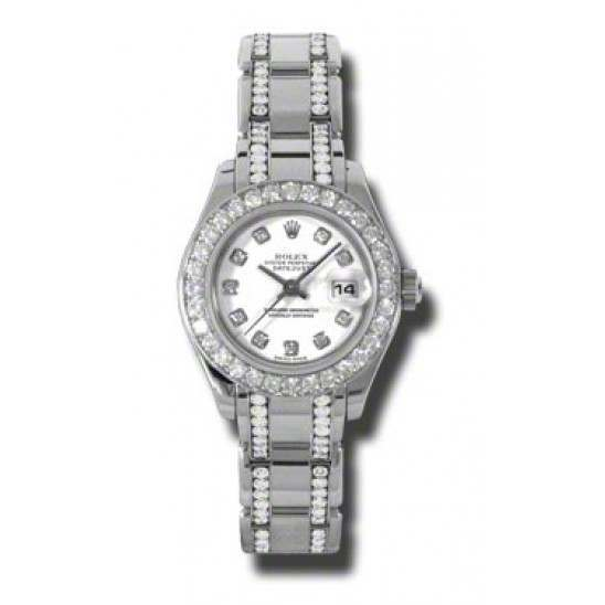 Rolex Pearlmaster Lady White/diamond 80299