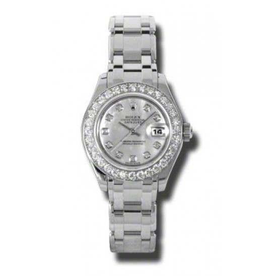 Rolex Pearlmaster Lady White mop/diamond 80299