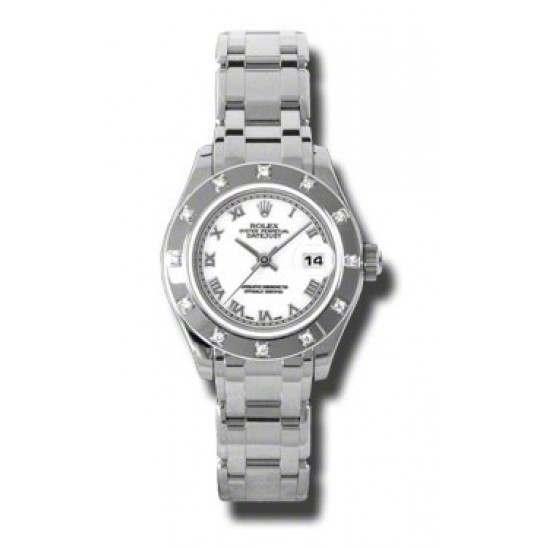 Rolex Lady Pearlmaster White Roman 80319