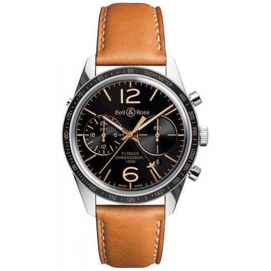 Bell & Ross Heritage GMT & Flyback Limited Edition BRV126-FLY-GMT/SCA