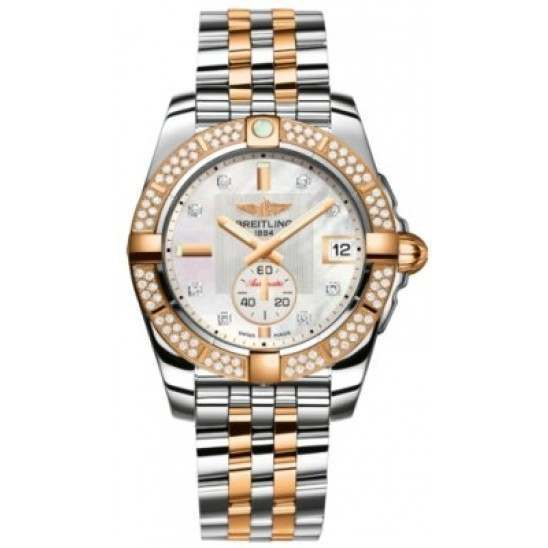 Breitling Galactic 36 (Steel & Rose Gold/ Diamonds) Caliber 37 Automatic C3733053.A725.376C