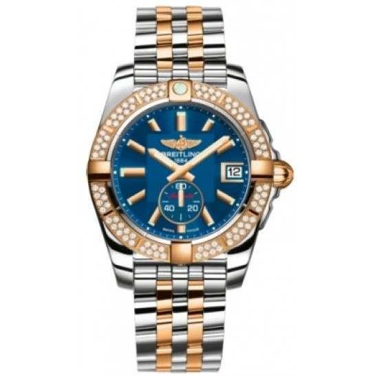 Breitling Galactic 36 (Steel & Rose Gold/ Diamonds) Caliber 37 Automatic C3733053.C831.376C