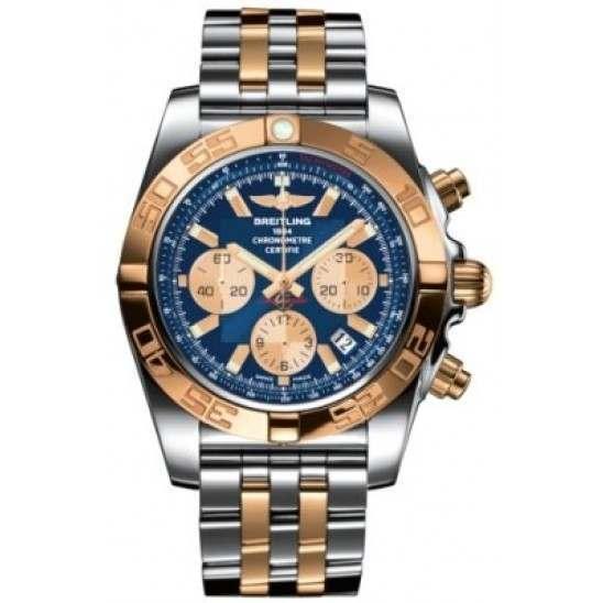 Breitling Chronomat 44 Steel  Gold Caliber 01 Automatic Chronograph CB011012C790375C