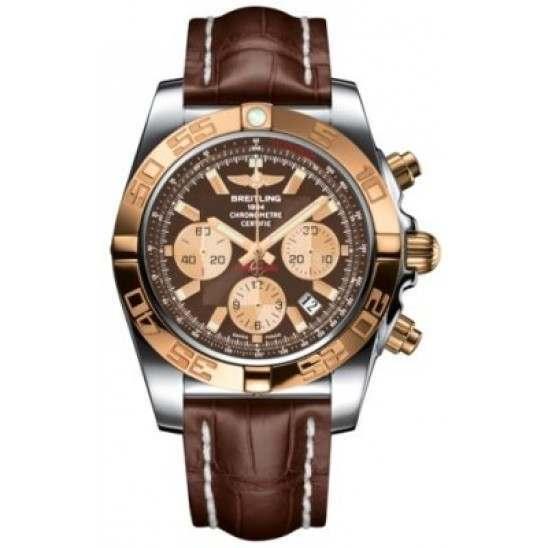 Breitling Chronomat 44 (Steel & Gold) Caliber 01 Automatic Chronograph CB011012.Q576.739P