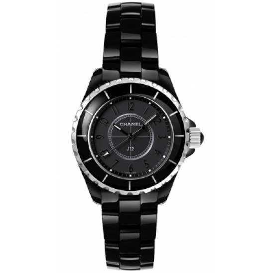 Chanel J12 Black Quartz Ladies H3828
