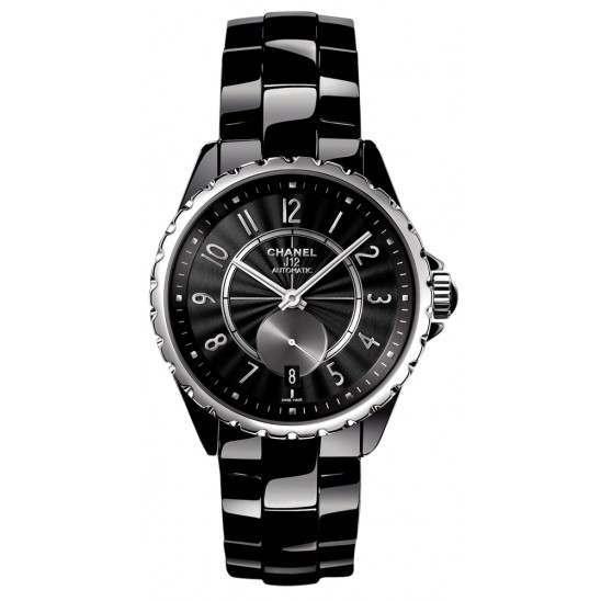 Chanel J12 Black Dial Ceramic Automatic H3836