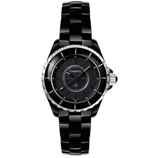 Chanel J12 Black Quartz Ladies H4196