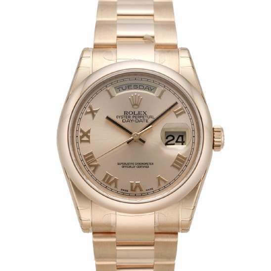 Rolex Day-Date Pink Roman Oyster 118205