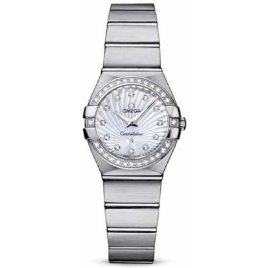 Omega Constellation Brushed Quartz Diamonds 123.15.24.60.55.002