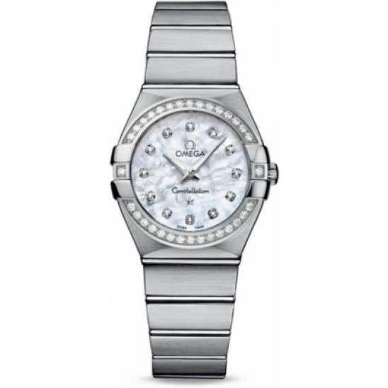 Omega Constellation Brushed Quartz Diamonds 123.15.27.60.55.001
