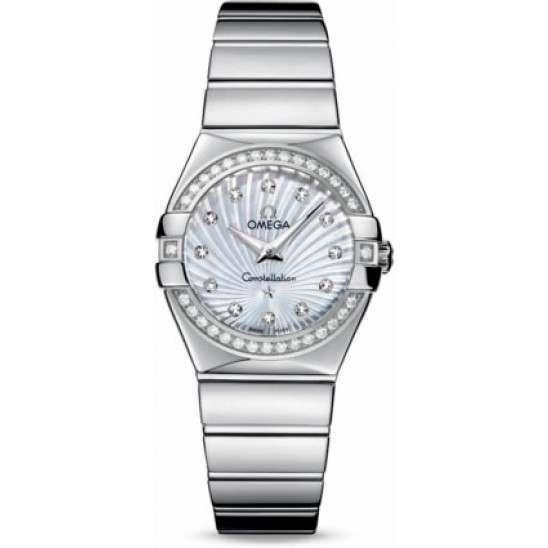 Omega Constellation Polished Quartz Diamonds 123.15.27.60.55.004