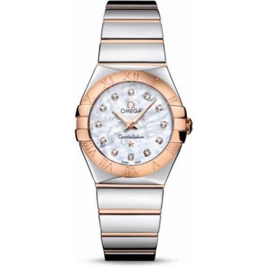 Omega Constellation Polished Quartz Diamonds 123.20.27.60.55.003|