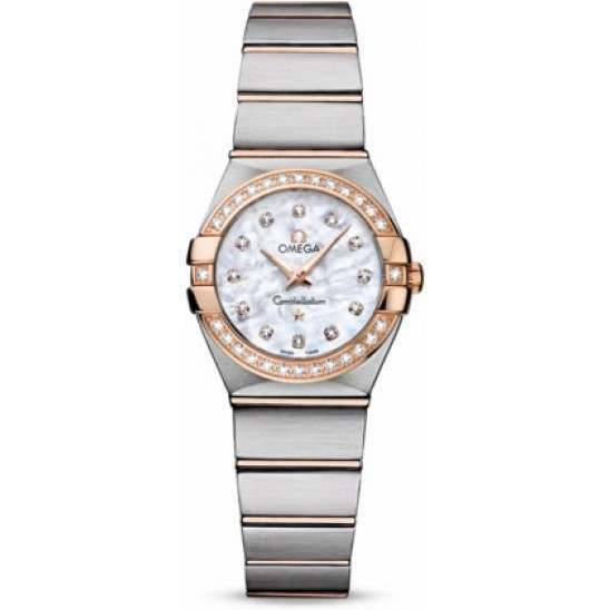 Omega Constellation Brushed Quartz Diamonds 123.25.24.60.55.001