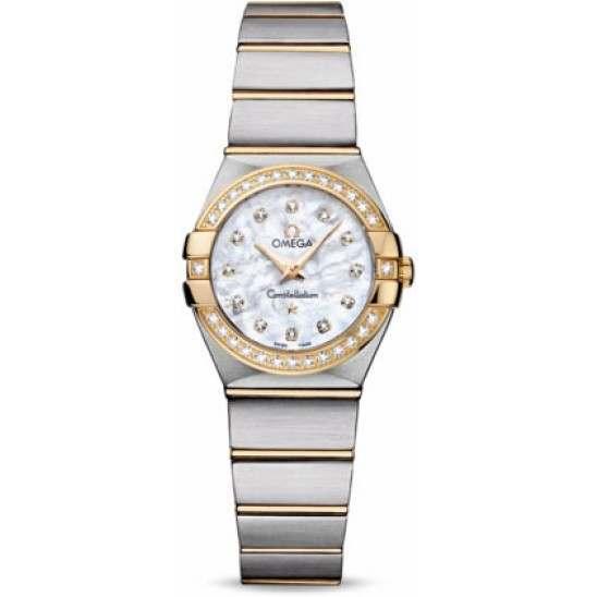 Omega Constellation Brushed Quartz Diamonds 123.25.24.60.55.003