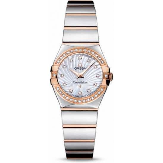 Omega Constellation Polished Quartz Diamonds 123.25.24.60.55.006