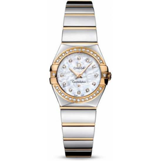 Omega Constellation Polished Quartz Diamonds 123.25.24.60.55.007