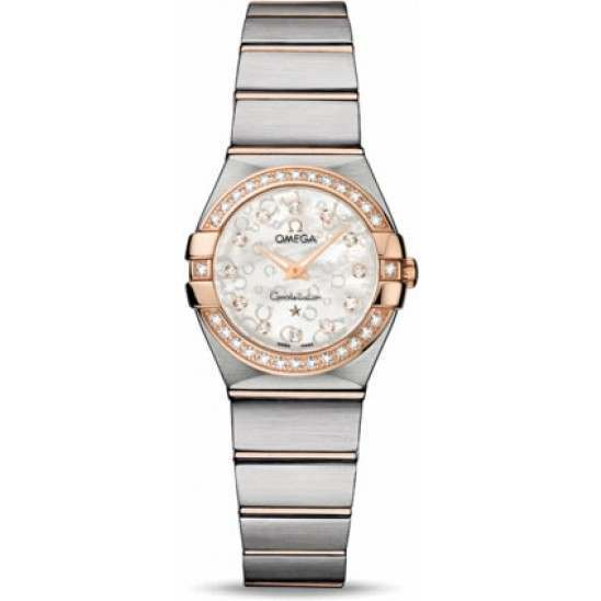 Omega Constellation Brushed Quartz Diamonds 123.25.24.60.55.009